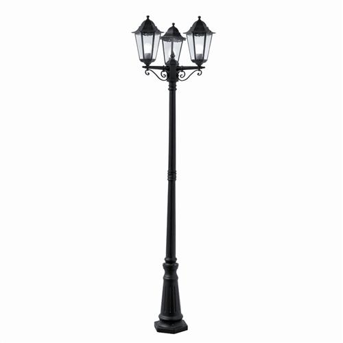 Alex Black Cast Aluminium Outdoor Triple Post Light 82540BK