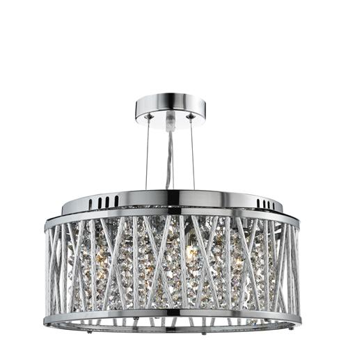 Elise Three Light Crystal Ceiling Fitting 8333-3Cc
