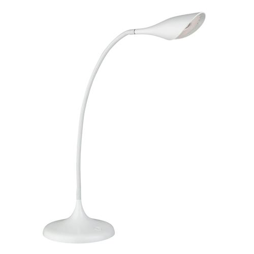 8334WH LED White Flexi-Arm Desk Lamp