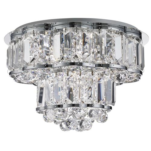 Hayley 4 light Crystal Ceiling Fitting 8374-4CC