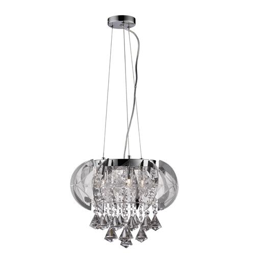 Fountaine Polished Chrome And Crystal Ceiling Light 8995-5Cc