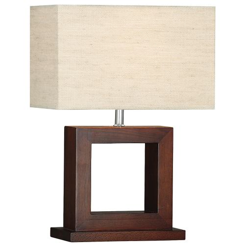 square dark wood table lamp 9000 the lighting superstore. Black Bedroom Furniture Sets. Home Design Ideas