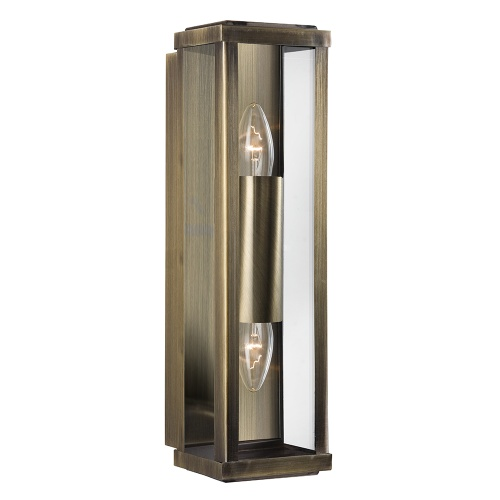 Outdoor Double Wall Light 9204Ab The Lighting Superstore