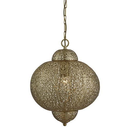 9221-1AB Moroccan Pendant Light