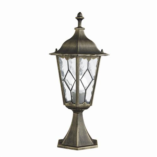 Imperial Black Gold Outdoor Post Lamp 93604Bg