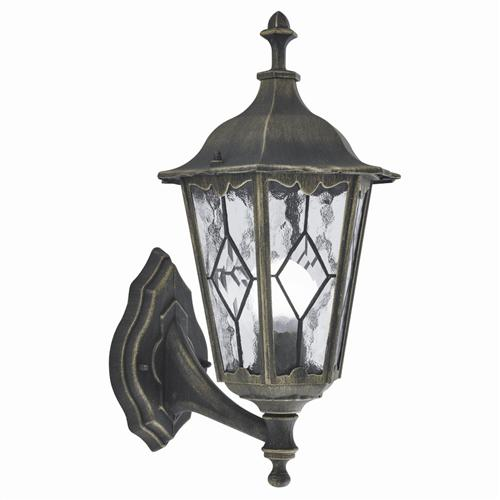 93641BG Imperial Black Gold Outdoor Wall Lantern