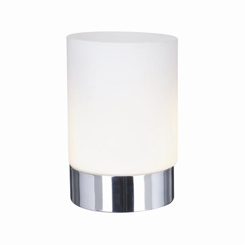 9791CC Opal And Chrome Touch Dimmer Table Lamp