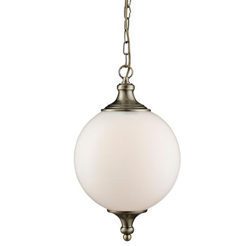 Atom Antique Brass/Opal Glass Ceiling Pendant Light 3051AB