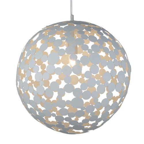 Led Ceiling Light Globe: Avalon Large Globe Sand White LED Ceiling Pendant Light