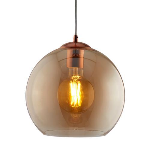 pretty nice 5596f 8e77f Balls LED Antique Brass/Amber Glass Pendant Light 1632Am