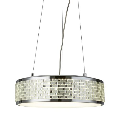 Baltimore LED Tile Effect Eight Light Ceiling Pendant 4398-8Cc