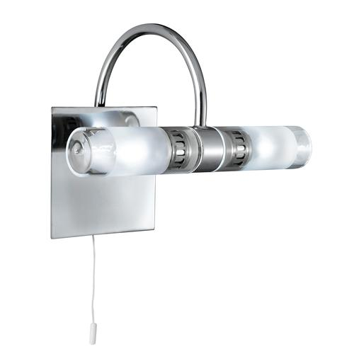 Bathroom LED Polished Chrome/Glass Wall Light 2555Cc-Led