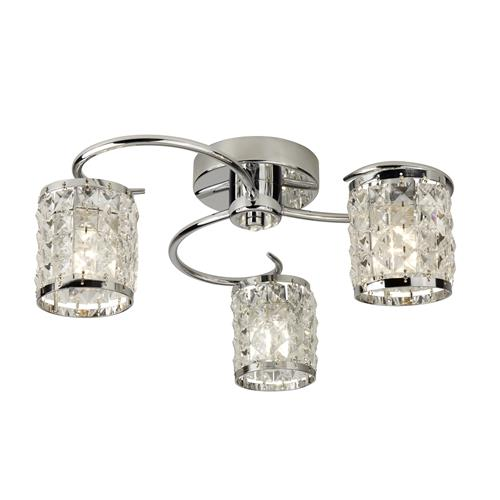 Cabery Bathroom Multi-Arm Triple Ceiling Light 8783-3CC