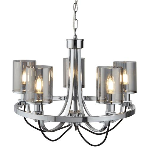 Catalina led polished chrome five light ceiling pendant 9045 5cc catalina led polished chrome five light ceiling pendant 9045 5cc mozeypictures Image collections