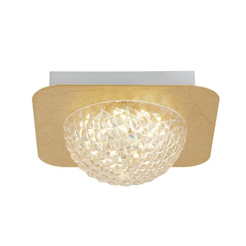 Celestia Single Gold Leaf LED Flush Ceiling Fitting 11325-1GO