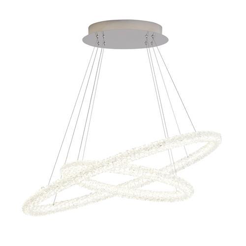 Circle led chromecrystal oval ceiling pendant light 42610 2cc the circle led chromecrystal oval ceiling pendant light 42610 2cc aloadofball Images