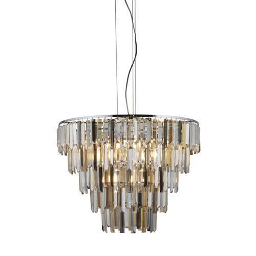 Alford Chrome & Glass Ceiling Pendant 2912-9CC