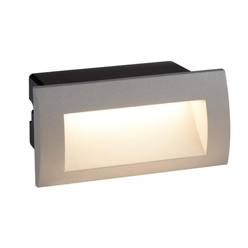 Daaiyah Outdoor IP65 Rated Recessed LED Wall Light 0662GY
