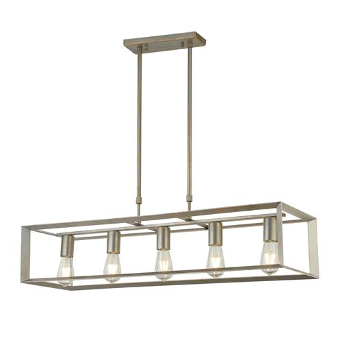Dagny Brushed Silver/Gold 5 Light Pendant 2415-5SI