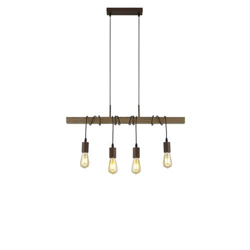 Daily Brown 4 Light Pendant 4874-4BR