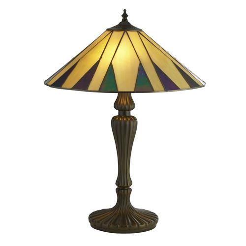 Dallace Antique Brass Tiffany Glass Table Lamp 7065-42