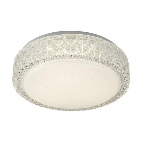 Dana Clear Acrylic LED Flush Ceiling Light 4650-28