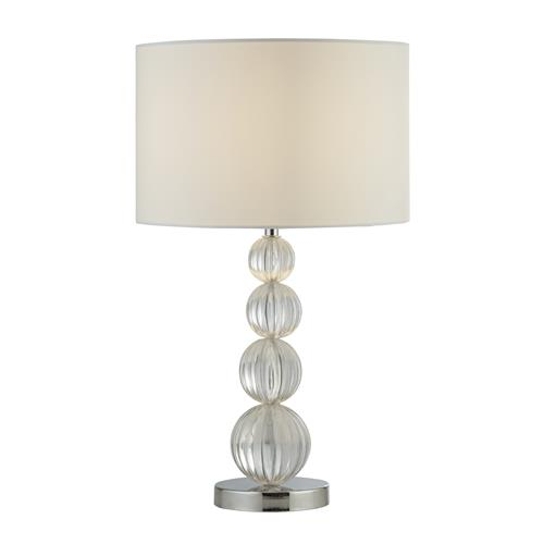 Daniella Acrylic Table Lamp With White Fabric Shade 1668CC