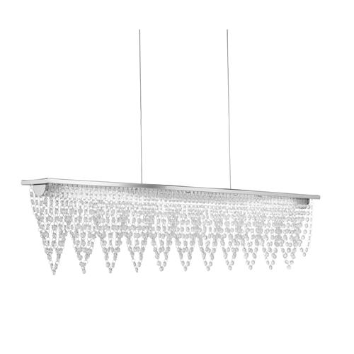 Drape LED Large Chrome Waterfall Ceiling Pendant Bar Light 8868Cc