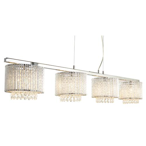 Elise LED Chrome/Crystal Four Light Ceiling Pendant 7094-4CC