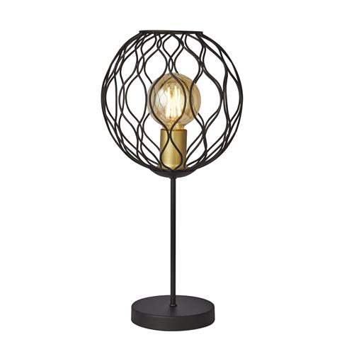 Finesse Black & Gold Finished Table Lamp 4508BK