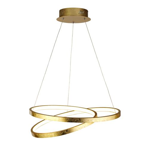 Float LED Gold Leaf Ceiling Pendant 6187GO