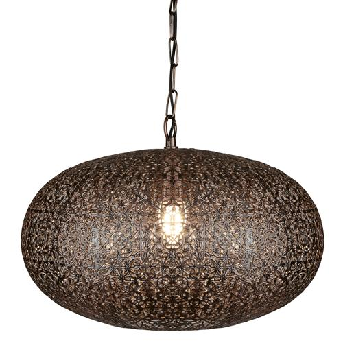 Fretwork LED Moroccan Antique Copper Ceiling Pendant Light 2672CU