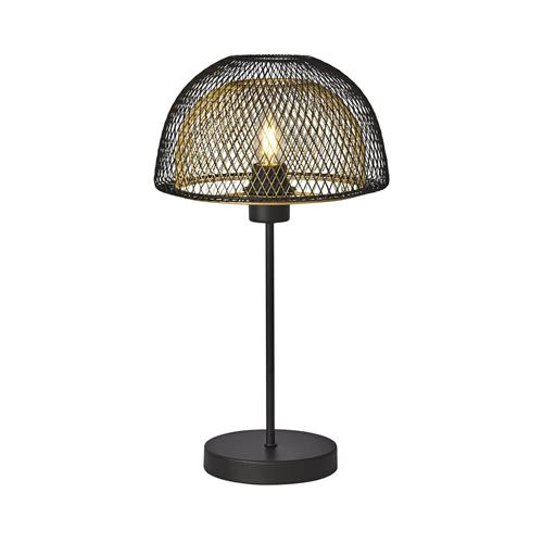 Honeycomb Black & Gold Desk Lamp 6848BGO