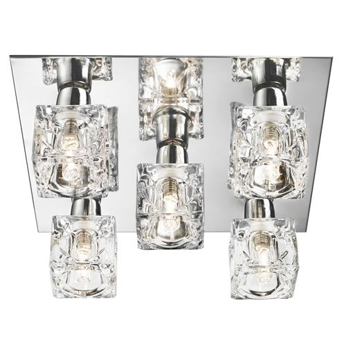 Ice Cube Polished Chrome Ceiling Light 2275-5-LED
