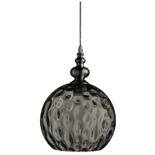 Indiana Polished Chrome Smoked Glass Pendant 2120SM
