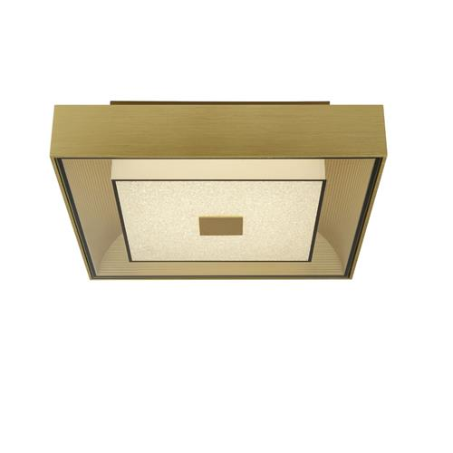 LED Square Gold Finished Ceiling Pendant 8674GO