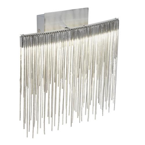 Memphis LED Satin Silver Chain Link Wall Light 6052Ss