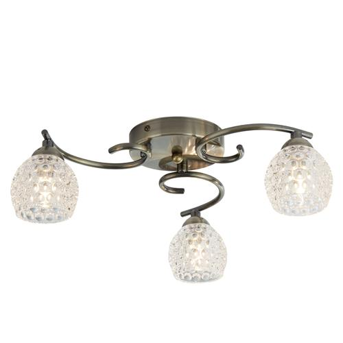 Minnie LED Antique Brass Three Light Semi Flush 1613-3Ab