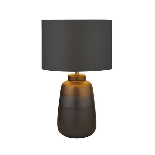 Navy & Gold Finished Table Lamp Complete 3927
