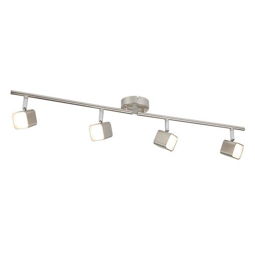 Quad LED Square Head Satin Silver Split Bar Ceiling Light 4234SS