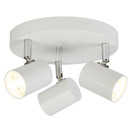 Rollo LED White/Chrome Round Spotlight Ceiling Fitting 3173Wh
