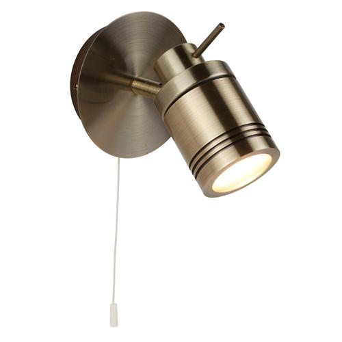 Samson LED Antique Brass IP44 Single Spot Light 6601Ab