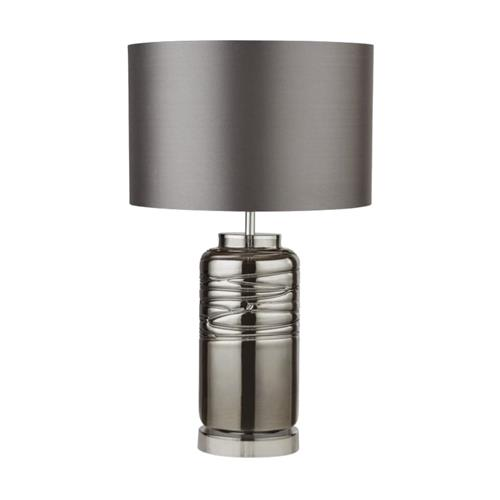 Smoked and Grey Table lamp Complete 3787SM