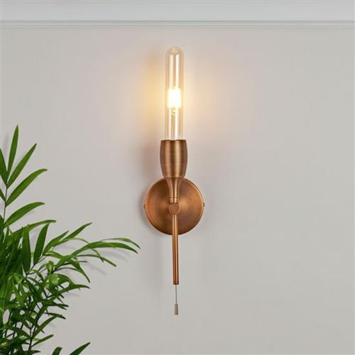 Liss Single Wall Light Bronze Finished 6162-1BZ