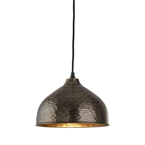 Vintage LED Industrial Styled Pewter Pendant Ceiling Light 4013-29Pw