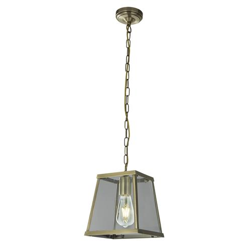 Voyager Antique Brass Single Pendant Light 4614AB