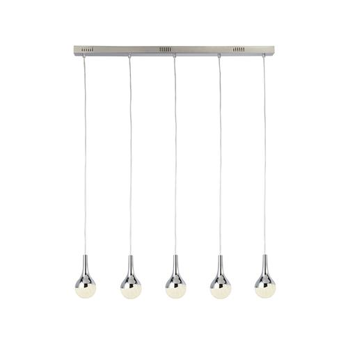 Wave Teardrop LED Chrome Five Light Pendant 5558-5CC