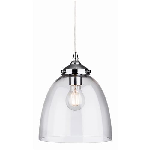 Darcie Polished Chrome Glass Pendant 7372-20CH