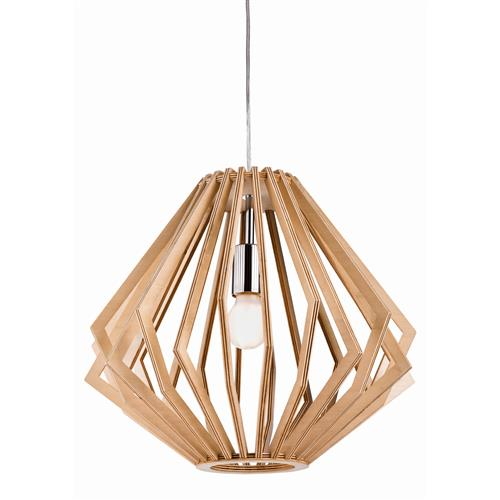 Daria Natural Wood/Chrome Finished 420MM Pendant Light 5371-20