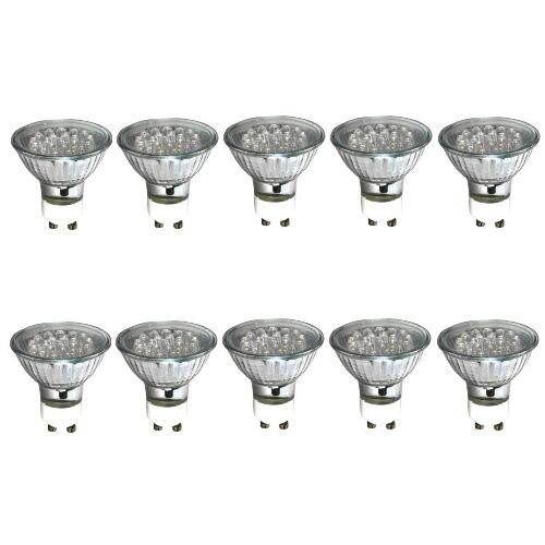 Pack Of 10 240V LED Green GU10 Lamps